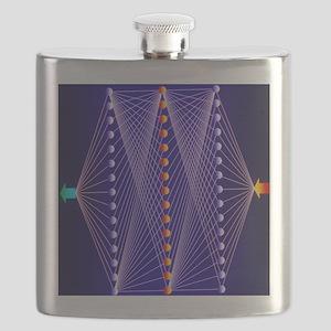 Illustration of neural net in computer appli Flask
