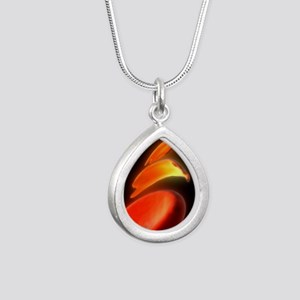Sickle cell anaemia, art Silver Teardrop Necklace