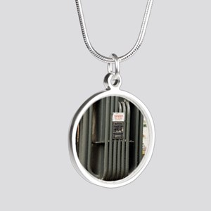 Industrial transformer Silver Round Necklace