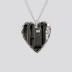 Industrial transformer Necklace Heart Charm