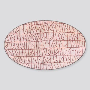 Runic inscriptions Sticker (Oval)