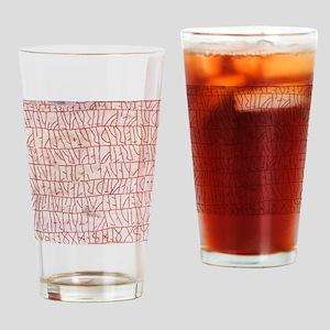 Runic inscriptions Drinking Glass