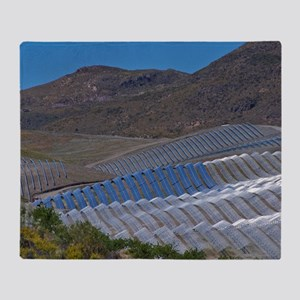 Solar power plant, Cala San Pedro, S Throw Blanket