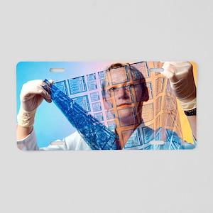 Intelligent label chip manu Aluminum License Plate