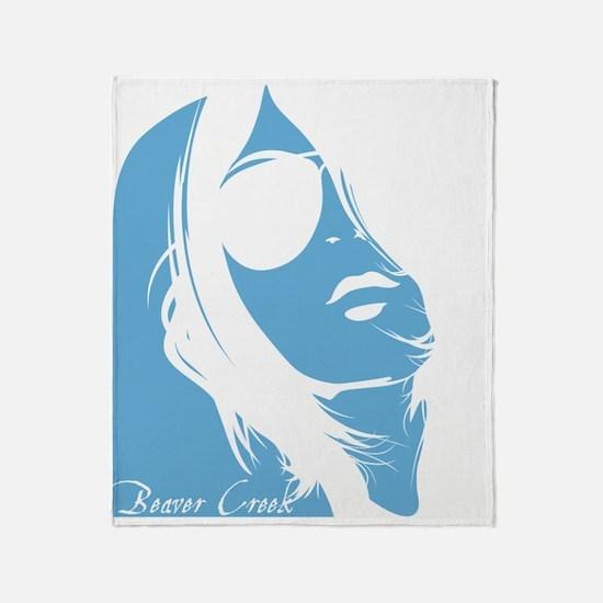 Beaver Creek Lady Silhouette Throw Blanket