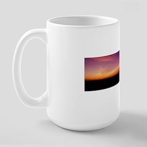 Time-lapse image of a suntrail Large Mug