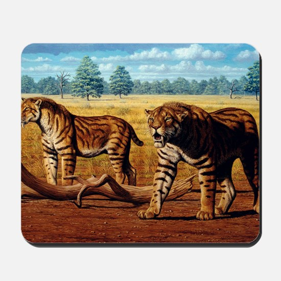 Sabre-toothed cats, artwork Mousepad