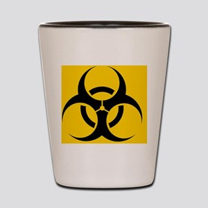 International biohazard symbol Shot Glass