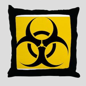 International biohazard symbol Throw Pillow