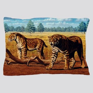 Sabre-toothed cats, artwork Pillow Case