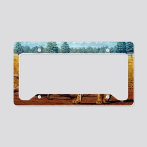Sabre-toothed cats, artwork License Plate Holder