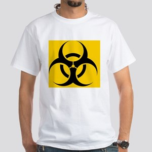International biohazard symbol White T-Shirt