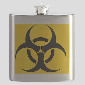 International biohazard symbol Flask