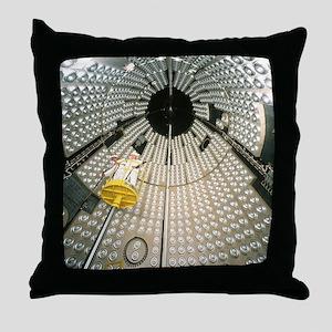 Interior of Ariane 5 nose fairing, lo Throw Pillow