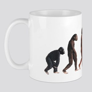 Stages in female human evolution Mug