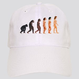 Stages in female human evolution Cap