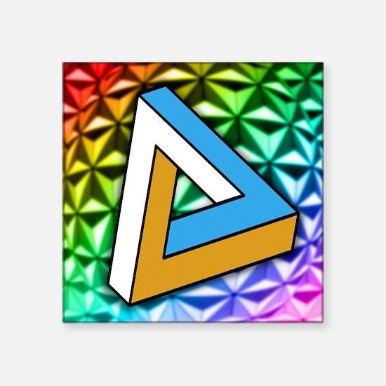 "Impossible shape Square Sticker 3"" x 3"""