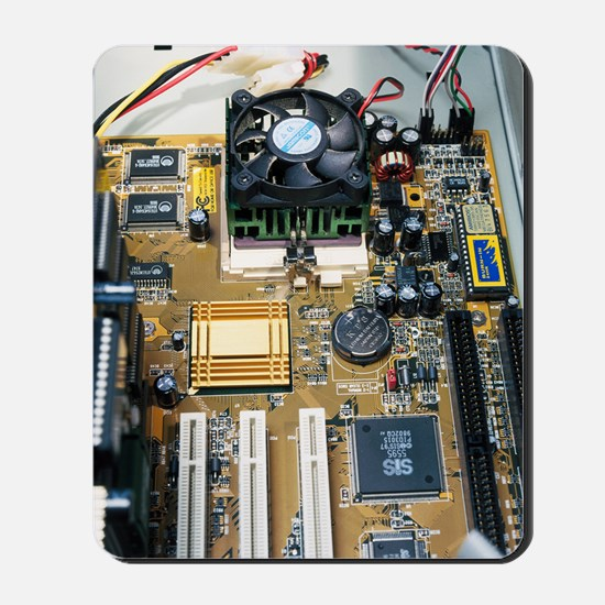 Internal parts of a personal computer Mousepad