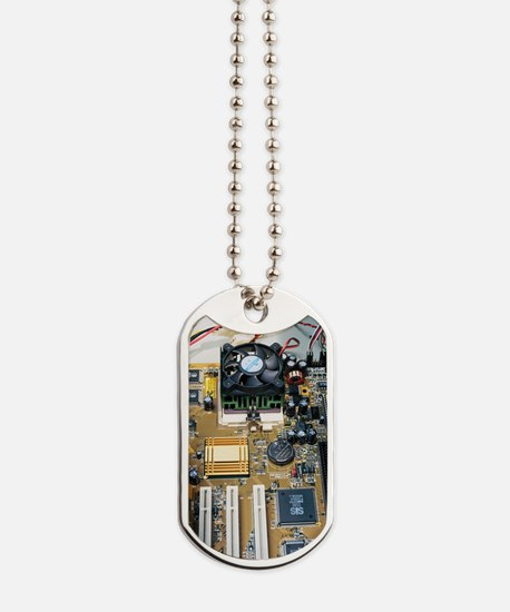Internal parts of a personal computer Dog Tags