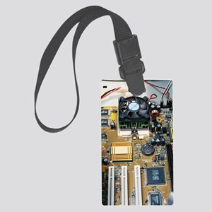 Internal parts of a personal com Large Luggage Tag