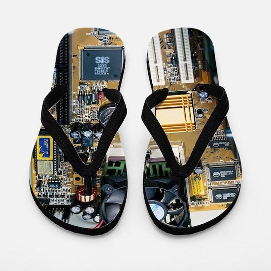 Internal parts of a personal computer Flip Flops