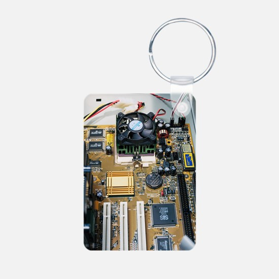 Internal parts of a person Aluminum Photo Keychain