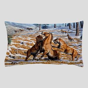 Scimitar cats attacking a horse Pillow Case