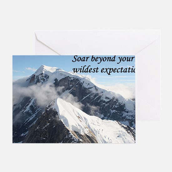 Soar beyond your wildest expectation Greeting Card