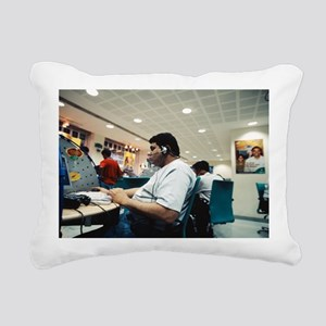 Internet cafe Rectangular Canvas Pillow