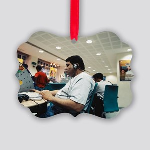 Internet cafe Picture Ornament