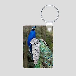 Indian peacock Aluminum Photo Keychain