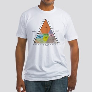 Soil triangle diagram Fitted T-Shirt
