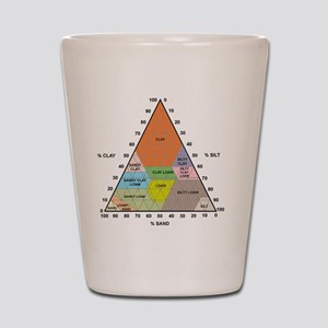 Soil triangle diagram Shot Glass