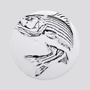 Striped Bass Round Ornament