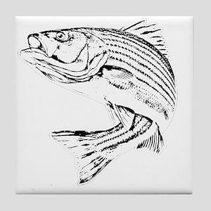 Striped Bass Tile Coaster