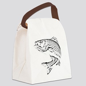 Striped Bass Canvas Lunch Bag