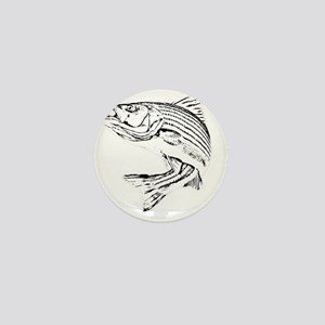 Striped Bass Mini Button