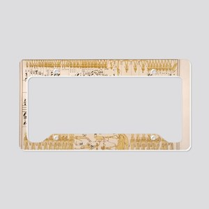 Zodiac hieroglyphs from Seti  License Plate Holder