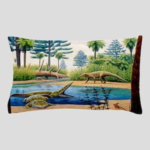 Triassic environment Pillow Case