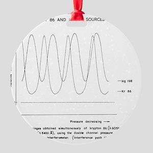 Interferometer readings Round Ornament
