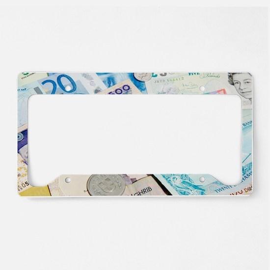 International currency License Plate Holder
