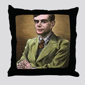 Alan Turing, British mathematician Throw Pillow