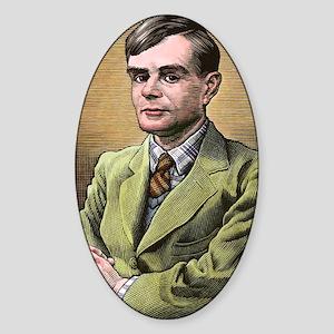 Alan Turing, British mathematician Sticker (Oval)