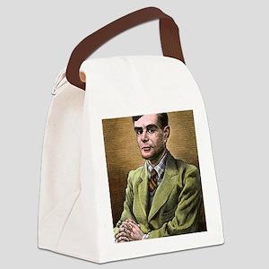 Alan Turing, British mathematicia Canvas Lunch Bag