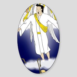 Angel choir Sticker (Oval)