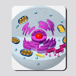 Animal cell structure, computer artwork Mousepad