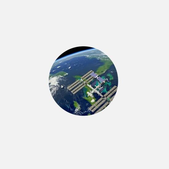 International Space Station Mini Button