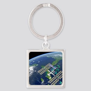 International Space Station Square Keychain