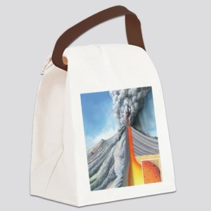 Stratovolcano, internal structure Canvas Lunch Bag