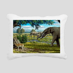 Wildlife of the Miocene  Rectangular Canvas Pillow